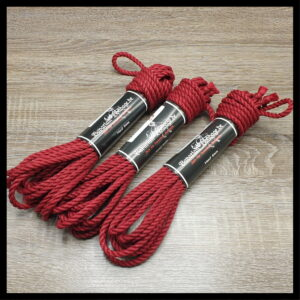 Hanfseil 6mm rot Set 3x8m